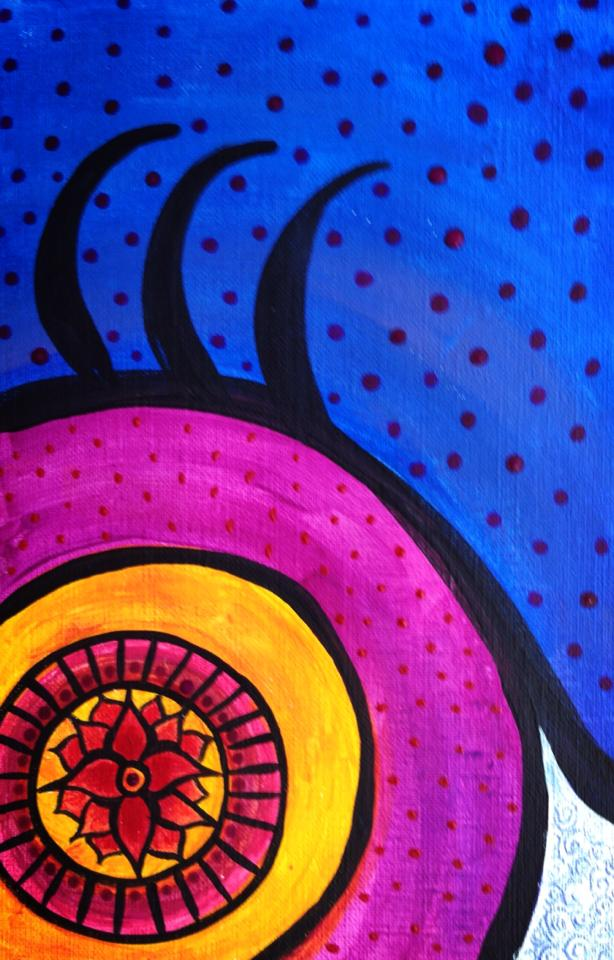 Day 128: Abstract Eye in Acrylic on Canvas Paper