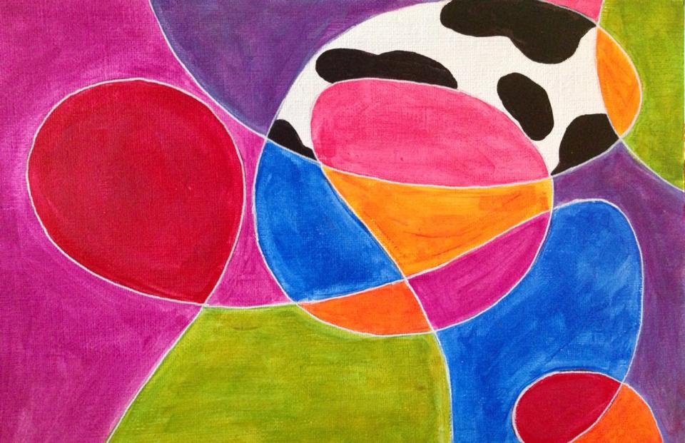 Day 131: Abstract in Acrylic on Canvas Paper