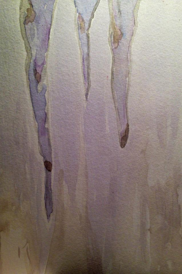 Day 143: Icicles in Watercolor on Watercolor Paper