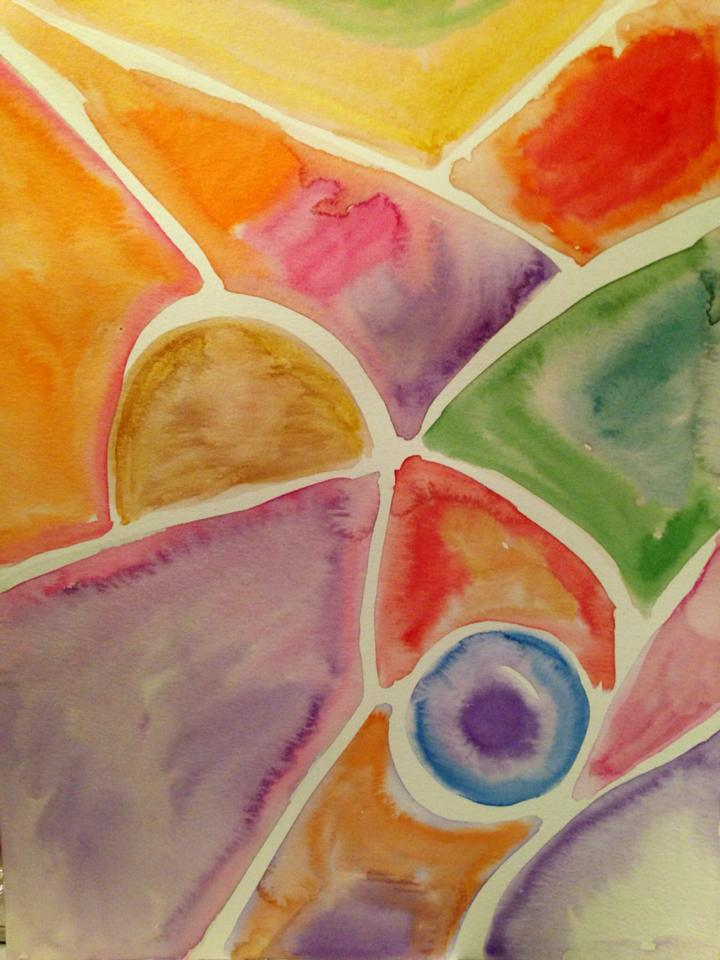 Day 151: Abstract in Watercolor on Watercolor Paper