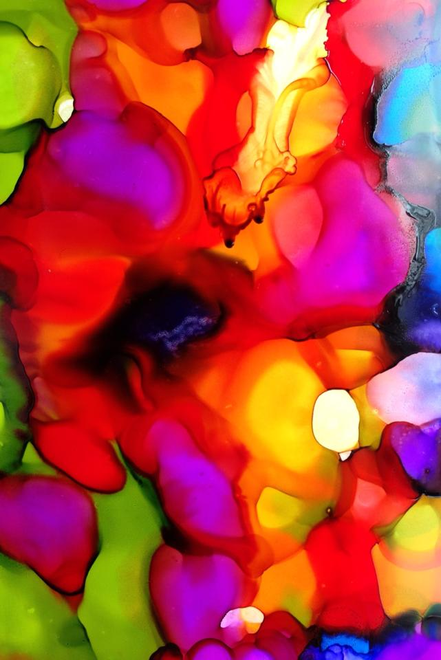 Day 152: Abstract in Alcohol Ink and Alcohol on Yupo Paper