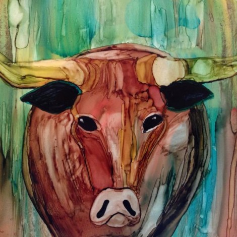 Day 190: Not Bevo in Alcohol Ink on Yupo Paper