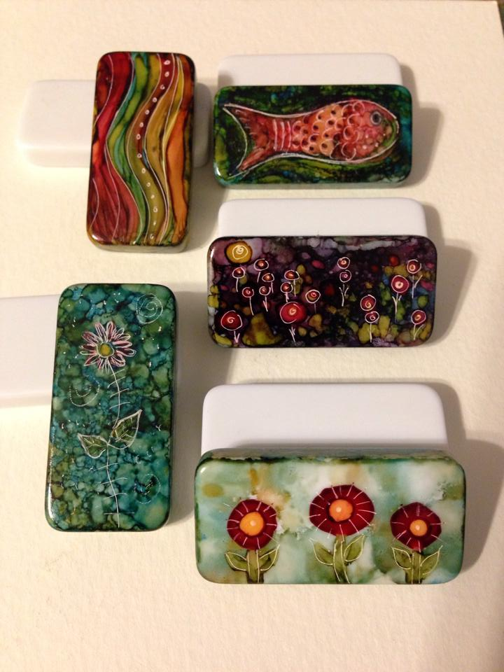 Day 265: Alcohol Ink on Dominoes