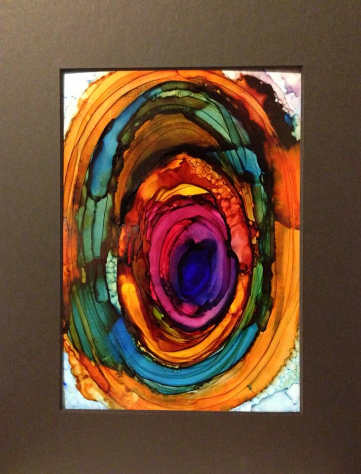 Day 279: Spiritual Food in Alcohol Ink on Yupo Paper