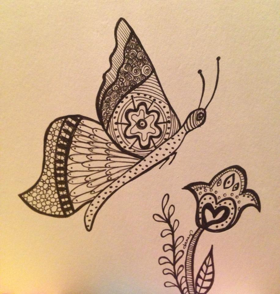 Day 299: Stealing Time in Sharpie on Bristol Board