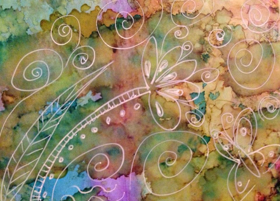 Day 300: Always Swirl in Alcohol Ink on Yupo Paper
